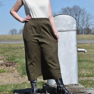 Vintage Rena Rowan Army Green Skirt
